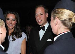 The Royal couple share a joke.