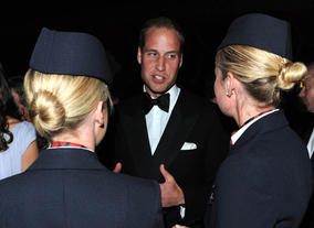 The Duke chats with the ambassadors from BA.
