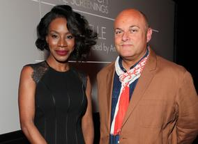 Amma Asante with BAFTA Los Angeles Chairman Nigel Daly