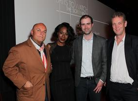 Amma Asante with BAFTA Los Angeles Chairman Nigel Daly, Director of Operations Matthew Wiseman and British Council Director Simon Gammell.