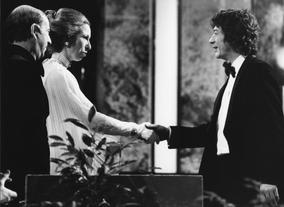 Hurt receiving the award for Supporting Actor from Princess Anne in 1978.Photo: BAFTA/ Archive