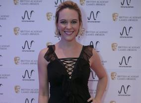 Courtnee Draper, Elizabeth in BioShock Infinite, at the BAFTA Games Nominees Party.