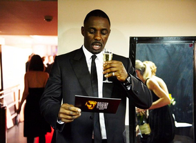 Idris Elba backstage at the 2009 BAFTA Television Awards.