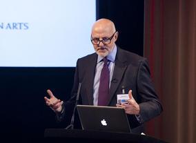 UK Film Commissioner Colin Brown delivers the keynote speech.