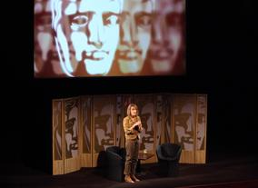 Writer and Critic Francine Stock takes to the stage and opens the event. (Picture: BAFTA/ J.Simmonds)