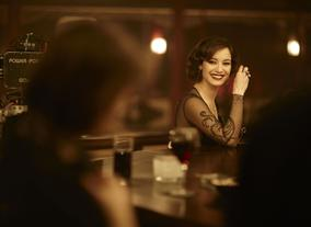 Brnice Marlohe who plays Svrine, on the set of 2012 Bond film, Skyfall. Photo by Greg Williams