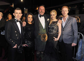 Cast of The Angels' Share (from left) Paul Brannigan, Jasmin Riggins, Charles MacLean, Siobhan Reilly and William Ruane.