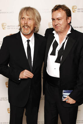 Thin Lizzy member Scott Gorham and Ashes To Ashes star Philip Gleinister rock the Television Awards (BAFTA / Richard Kendal).