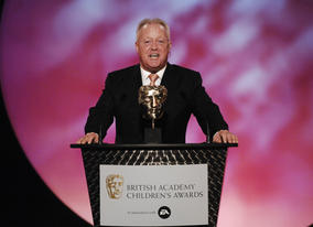 Ceremony host Keith Chegwin gets the evening's proceedings off to a flying start
