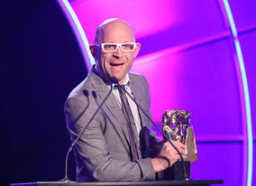The Gadget Show's Jason Bradbury takes to the stage to present the Video Games category.
