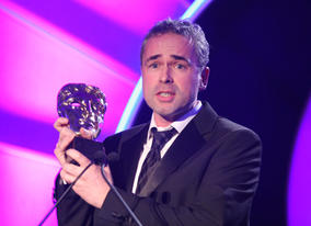 The team behind S4C's Christmas adventure Rhestr Nadolig Wil (Wil's Christmas List) celebrate winning the Drama BAFTA.
