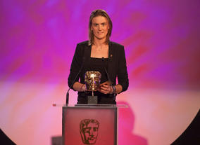 Olympic gold medallist Stanning takes a well-deserved break to present the Short Form award.