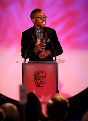 The young actor collects the Performer BAFTA for his role in CBBC's 4 O'Clock Club.