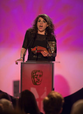 Multi award-winning broadcaster, TV critic and Times columnist Caitlin Moran announces the winner in the Factual category.