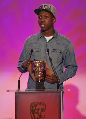 Young entrepreneur and SB.TV founder Jamal Edwards announces the winner in the Interactive category. Edwards recently became the face of Google Chrome.