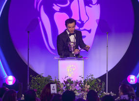 Sherlock star Andrew Scott presents the Award for Production Design.