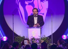 Charlie Philips wins the Editing Fiction BAFTA for Sherlock (A Scandal in Belgravia) 