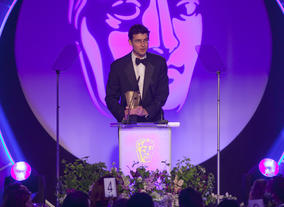 George Ormond, producer of Great Expectations accepts the Photography & Lighting: Fiction Award on behalf of Florian Hoffmeister. Great Expectations picked up three BAFTAs at the 2012 TV Craft Awards.