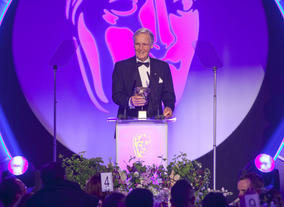 Veteran broadcaster Nicholas Parsons presented the BAFTA for Entertainment Craft Team.