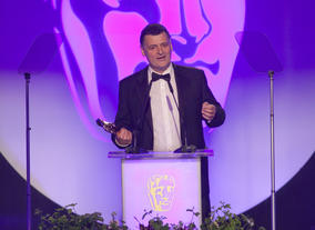 Steven Moffat receives the BAFTA for Writer at the 2012 Television Craft Awards. Sherlock picked up 3 Awards on the night.