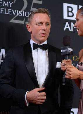 Honoree Daniel Craig arrives on the red carpet. He was there to receive the Britannia Award for British Artist of the Year.