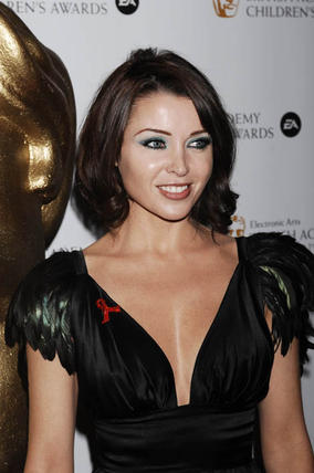 X factor judge Dannii Minogue at the EA British Academy Children's Awards in 2008.