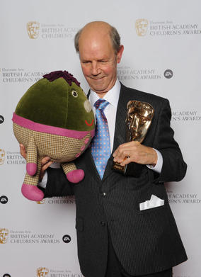 Cant with the original Humpty from Play School. Pic: BAFTA/Richard Kendal