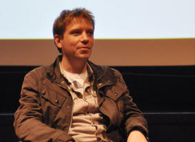 Writer &amp; Director Gareth Edwards answered the audiences questions after the screening in Glasgow (Photography: Jenny Anderson)