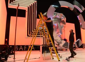 Constructing the set for the EE British Academy Film Awards in 2013
