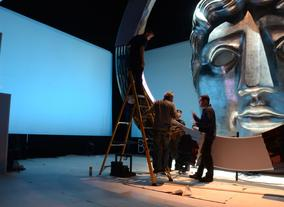 Preparing the set for the EE British Academy Film Awards in 2013