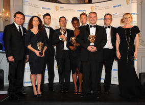 The One Born Every Minute production team receive the Factual Series BAFTA (BAFTA/Richard Kendal).