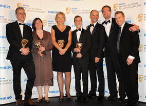 Wounded wins the Single Documentary BAFTA (BAFTA/Richard Kendal).