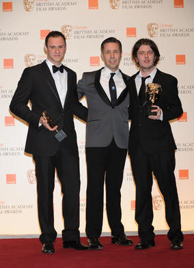 Paddy Considine who presented the Short Film BAFTA to Paul Wright and Poss Kondeatis. (Pic: BAFTA/Richard Kendal)