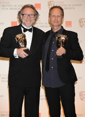 Proucer Sren Strmose and director Niels Arden Oplev. (Pic: BAFTA/Richard Kendal)