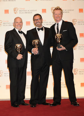 Guy Hendrix Dyas, Larry Dias and Doug Mowat. (Pic: BAFTA/Richard Kendal)