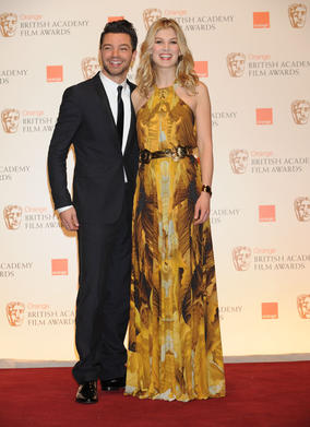 Made In Dagenham star Rosamund Pike and Tamara Drewe's Dominic Cooper. (Pic: BAFTA/Richard Kendal)