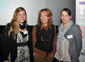 The evening was chaired by BAFTA in Scotland Committee member Morag Fullarton (centre) with introductions from Jude McLaverty, Director of BAFTA in Scotland (right) and Maddie Dinwoodie, Head of Projects at Media Trust (left).