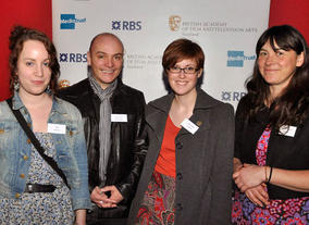 BAFTA Mentor Alan de Pellette with a young person and a representative from Depot Arts.