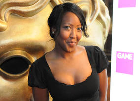 Angellica Bell arrives at the London Hilton to join the GAME British Academy Video Games Awards (BAFTA / James Kennedy).
