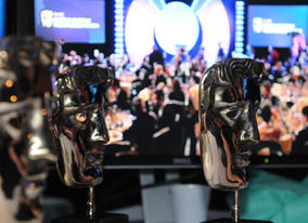 BAFTA masks wait to be claimed by the winners (BAFTA / James Kennedy).