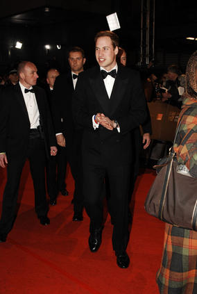HRH Prince William walks the Orange British Academy Film Awards red carpet before his confirmation as the Academy's fifth President (BAFTA/Richard Kendal).