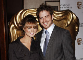 Eastenders' Kara Tointon and Robert Kazinsky at the awards ceremony. Kara later gave the Presenter award to Smile's Barney Harwood