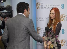 Nominee Juno Temple is pictured at BAFTA HQ as the Nominees are announced for the 2013 EE Rising Star Award
