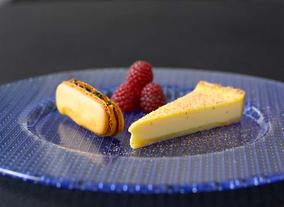 Egg Custard Tart With Rasberries