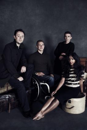From left to right: Oliver Clarke, Arthur Williams, Paul Brannigan, Mitu Khandaker