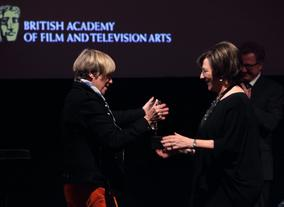Victoria Wood presents Delia with the BAFTA Special Award