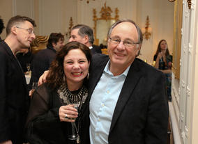 On the right is John Willis, Chairman of the British Academy of Film and Television Arts.