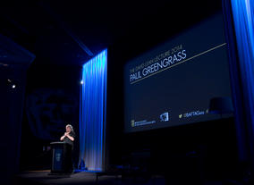 Paul Greengrass delivering his David Lean Lecture.