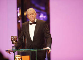 Ivan Dunleavy, Chief Executive of Pinewood Shepperton accepts the Outstanding British Contribution to Cinema Award (BAFTA / Marc Hoberman).