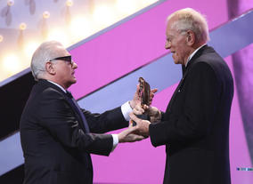 Max von Sydow presented this year's Fellowship to Martin Scorsese.